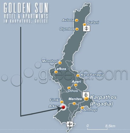 Golden Sun Hotel & Apartments in Karpathos, Arkassa - Greece